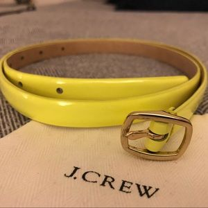 Yellow J.Crew Belt